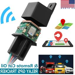 Car GPS GSM Tracker Relay-Shaped Cut Oil Mini Hidden Real-ti