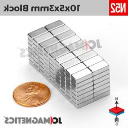 10mm x 5mm x 3mm N52 Small Strong Rare Earth Neodymium Craft
