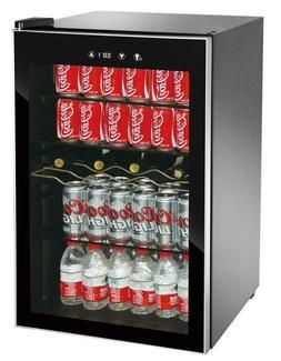 110 Can LED Lighting Beverage Center Cooler Small Fridge Ref