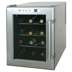 12 Bottle Wine Fridge Cooler Thermoelectric Countertop Chill