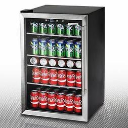 126 Can Stainless Steel Beverage Center, Glass Door Wine Bee