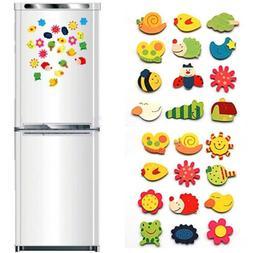 12PC Animal Wooden Fridge Magnet/Glue Sticker Refrigerator E