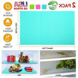 2/4 Refrigerator Fridge Washable Mat Pad Drawer Liners Kitch