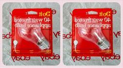 2-Pk Appliance Light Bulb Refrigerator Freezer Oven Microwav