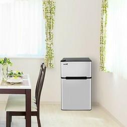 3.2 Cu Ft. Stainless Steel 2Door Mini Refrigerator Freezer C