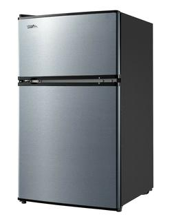 3.2 Cu Ft Stainless Steel Compact Fridge Dorm Office Small R