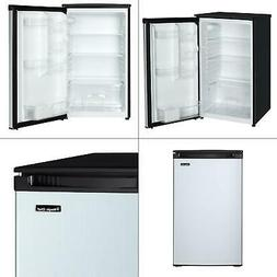 4.4 cu. ft. mini fridge with freezerless design in stainless