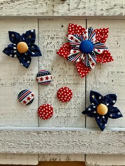 7 Piece Refrigerator Fridge Magnets - American Flag, Patriot
