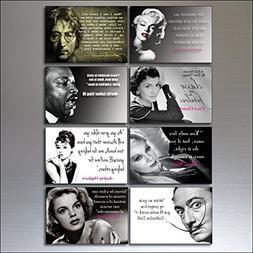 8 Inspirational Quotes Vintage Fridge Magnets no1