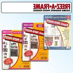 """Clear Magnetic Picture Frames, Set of 4""""x6"""", 5""""x7"""" & 8.5""""x11"""