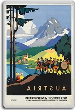 Austria, Europe vintage travel fridge magnet