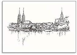 Breslau Wroclaw Hand Drawn Illustration Classic Fridge Magne