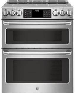 """GE Cafe Series 30"""" Slide-In Front Control Induction and Conv"""