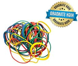 Get Organized 1/2 lb Pack of Colorful Rubber Bands - Assorte