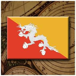 "Flags of The WORLD - BHUTAN - 2X3"" Fridge Magnet"