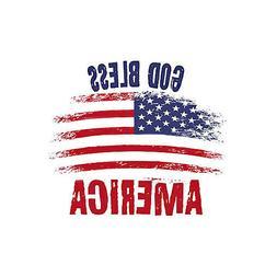 God Bless America Flag Refrigerator Fridge Gift Magnet Free