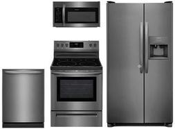 "Frigidaire 4-Piece Kitchen Set FFSS2615TD with 36"" Side by S"