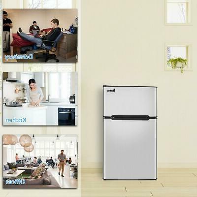 Zokop 3.2 cu.ft. 2-Door Mini Dorm Upright Compact Refrigerat
