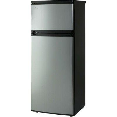 Avanti 7.4 Cu. Ft Top Freezer Apartment Refrigerator in Blac