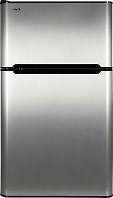 Haier 3.2 cu ft Refrigerator, Stainless Steel 2-Door for Dor