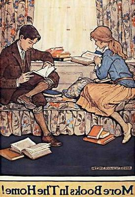 CHILDREN READING BOOKS TO PROMOTE CHILDREN'S BOOK WEEK, FRID