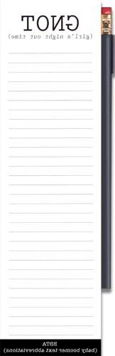GNOT  Magnetic Refrigerator Notepad