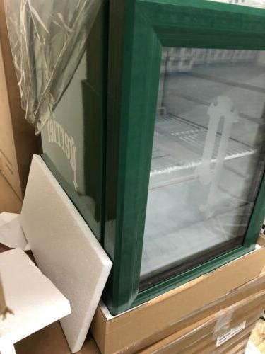 mini fridge branded glass door led lighting