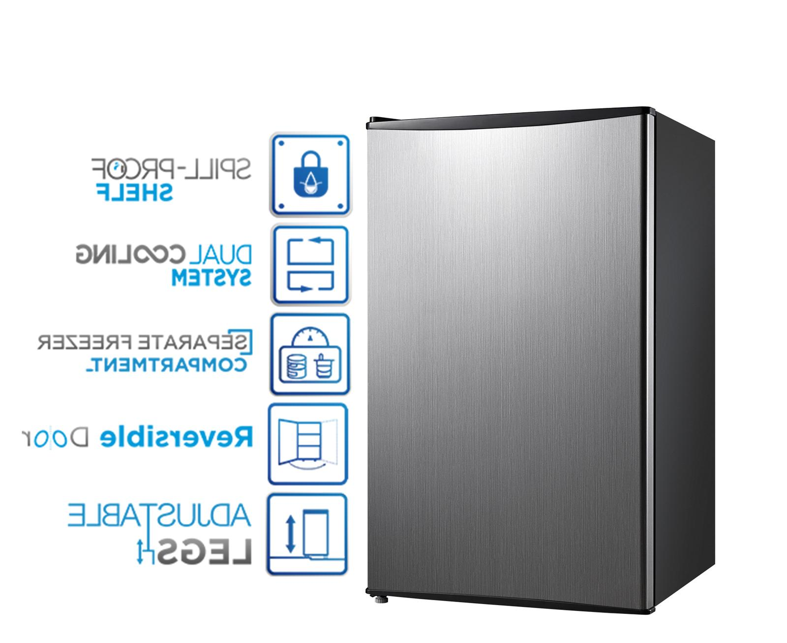 Mini Compact Food Refrigerator Kitchen Home Single Door 3.3