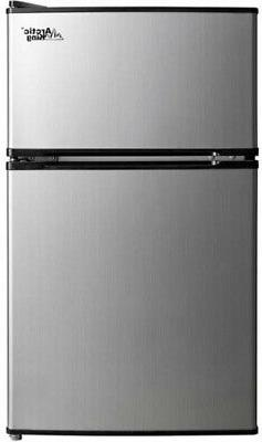 3.2 Cu Ft Mini Fridge Freezer Cooler 2-Door Compact Refriger