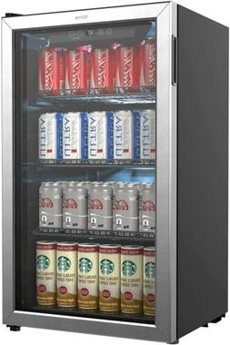 hOmeLabs Beverage Refrigerator and Cooler - 120 Can Mini Fri