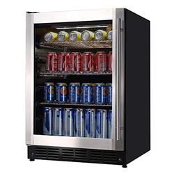 Magic Chef 23.4 in. 154  Can Beverage Cooler, Stainless Stee