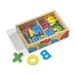 Melissa & Doug Magnetic Magnetic Wooden Alphabet Set Small 5