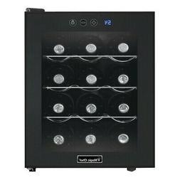 Magic Chef MCWC12B 12-Bottle Countertop Wine Cooler - Black