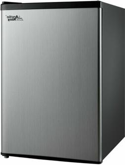 Mini Refrigerator 2.4 Cu Ft Stainless Single Door Small Frid