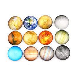 SINKSONS Planetary Refrigerator Magnets - 12 Pack Fridge Mag