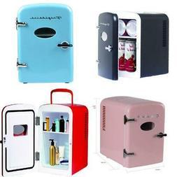 Portable Retro Cool Personal Mini Fridge Refrigerator Compac