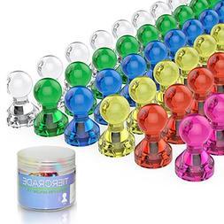 Push Pin Magnets, Fridge Magnets, Tiergrade 60 Pack 7 Assort
