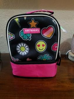 Fridge Pak Really Cool Lunch Bag Girl Power Smile hearts pin
