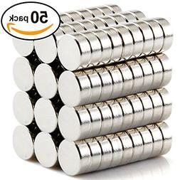 10 X 3 mm Refrigerator Magnets Premium Brushed Nickel Fridge