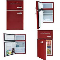 retro 3.2 cu. ft. 2 door mini fridge in red   refrigerator o