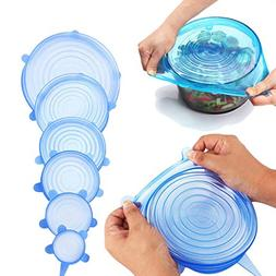 Silicone Stretch Lids, Reusable, Durable, Expandable Covers