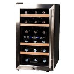 Koldfront TWR187ESS 18 Bottle Free Standing Dual Zone Wine C