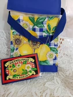 Sunflowers & Lemons Mini Fridge Pak lunch bag Insulated Wash