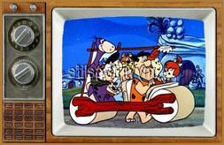 "THE FLINTSTONES  TV Fridge MAGNET  2"" x 3"" art SATURDAY MORN"