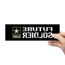"CafePress U.S. Army: Future Soldier  10""x3"" Rectangle Bumper"