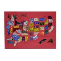 United States All 50 US State Fridge Magnets & Puerto Rico P