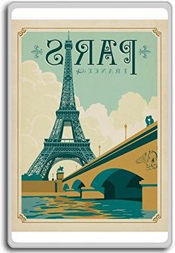 Vintage Paris, France Vintage Travel Fridge Magnet